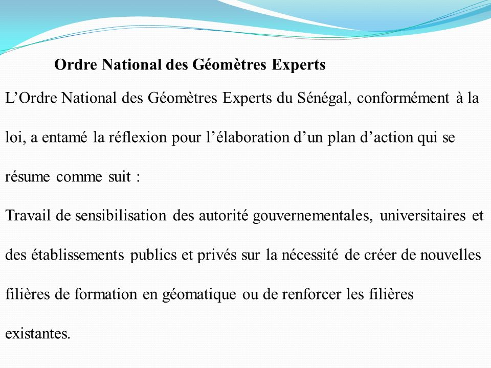 Ordre National des Géomètres Experts