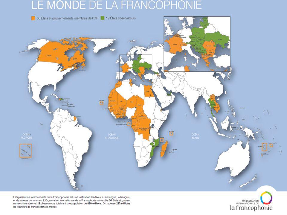 La Francophonie est une organisation internationale fondée sur le partage d'une langue et de valeurs communes.