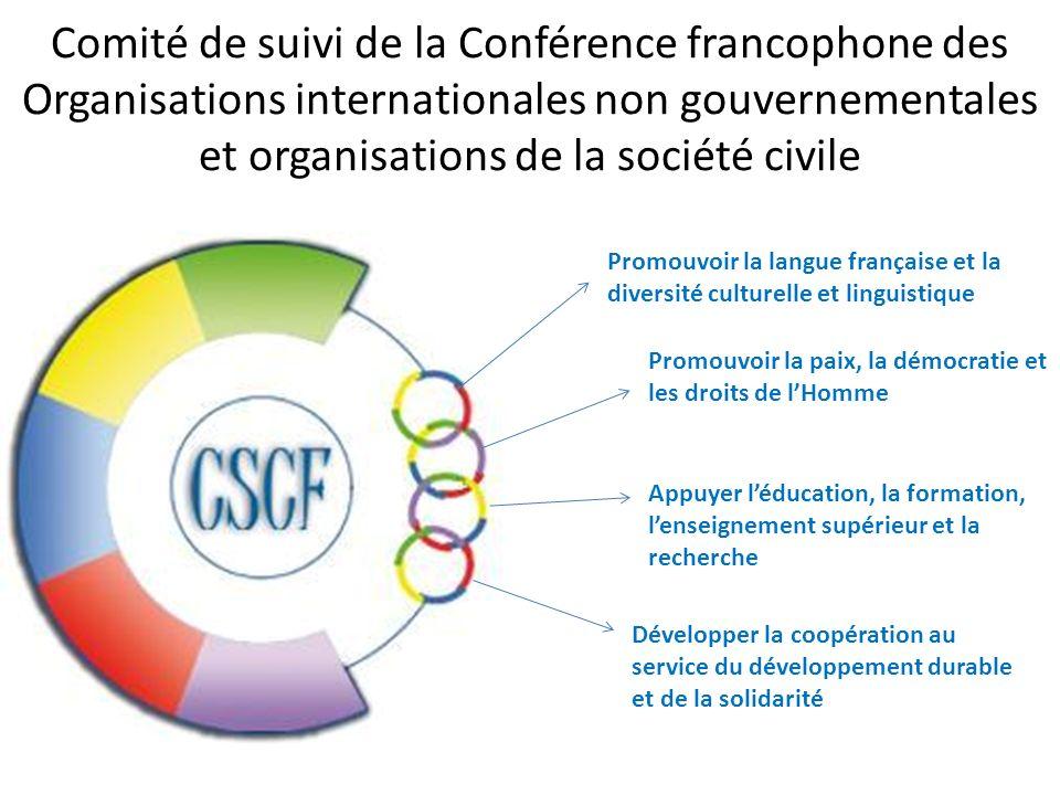 Comité de suivi de la Conférence francophone des Organisations internationales non gouvernementales et organisations de la société civile