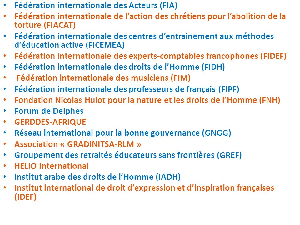 Fédération internationale des Acteurs (FIA)