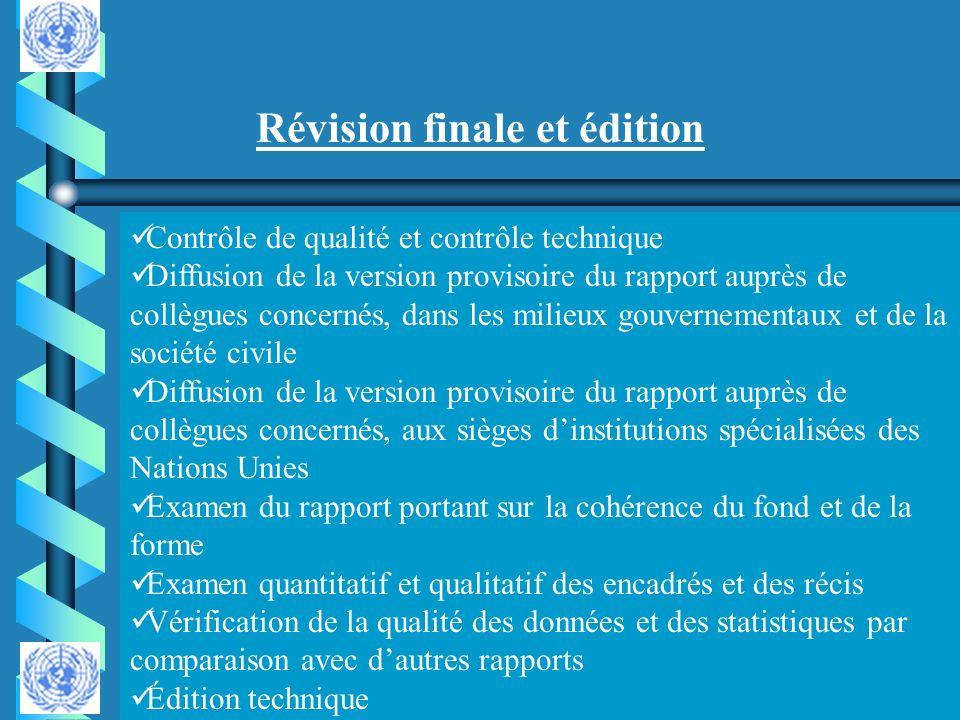 Révision finale et édition