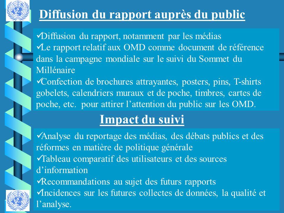 Diffusion du rapport auprès du public