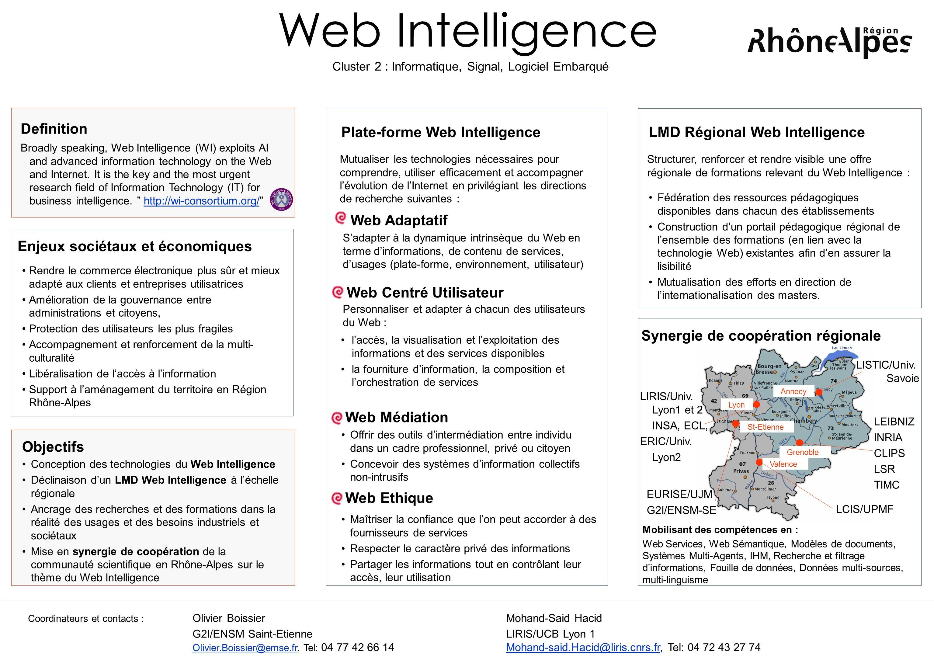 Web Intelligence Plate-forme Web Intelligence