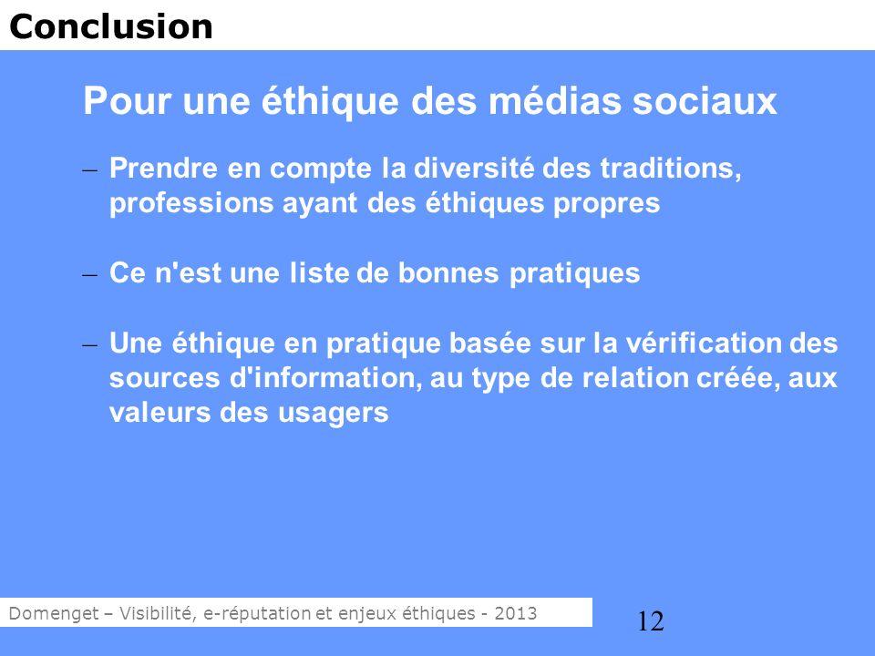 Pour une éthique des médias sociaux