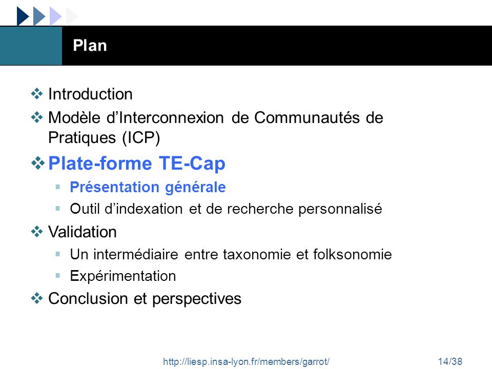 Plate-forme TE-Cap Plan Introduction