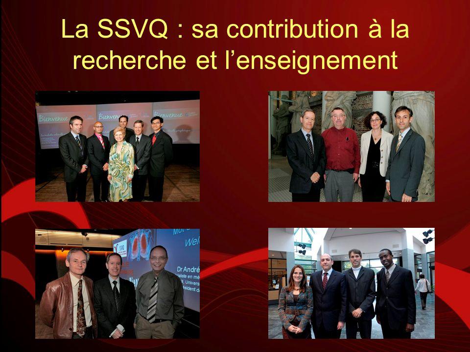 La SSVQ : sa contribution à la recherche et l'enseignement