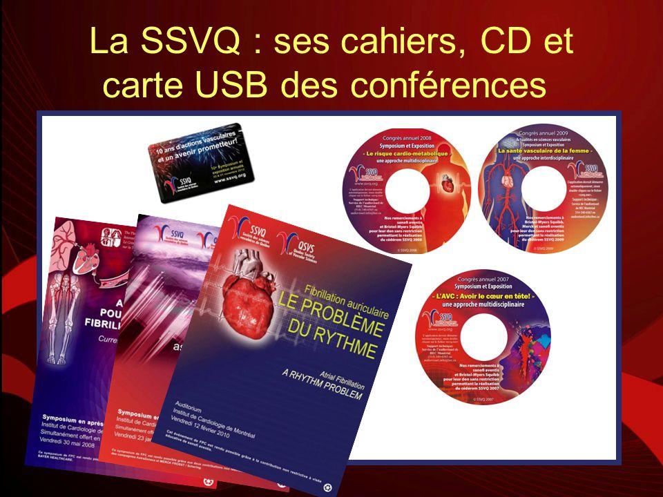 La SSVQ : ses cahiers, CD et carte USB des conférences