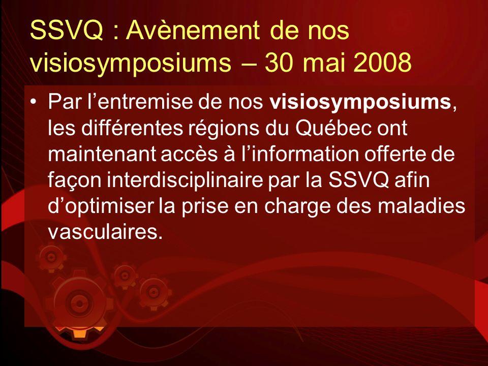 SSVQ : Avènement de nos visiosymposiums – 30 mai 2008