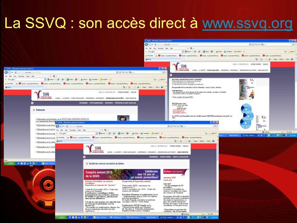 La SSVQ : son accès direct à www.ssvq.org