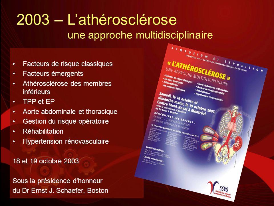 2003 – L'athérosclérose une approche multidisciplinaire