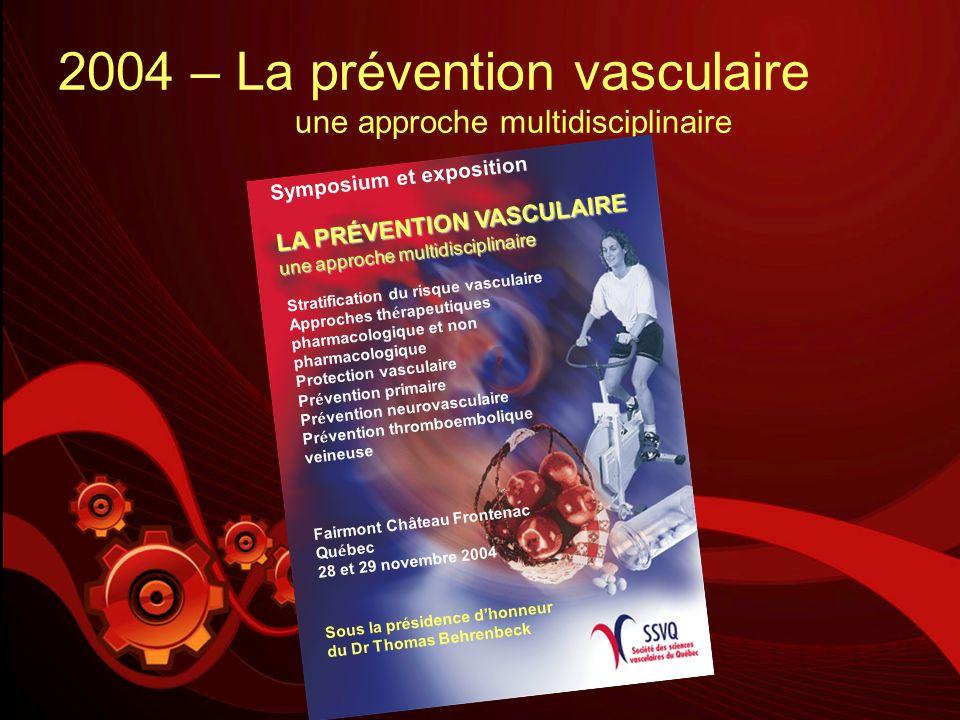 2004 – La prévention vasculaire une approche multidisciplinaire