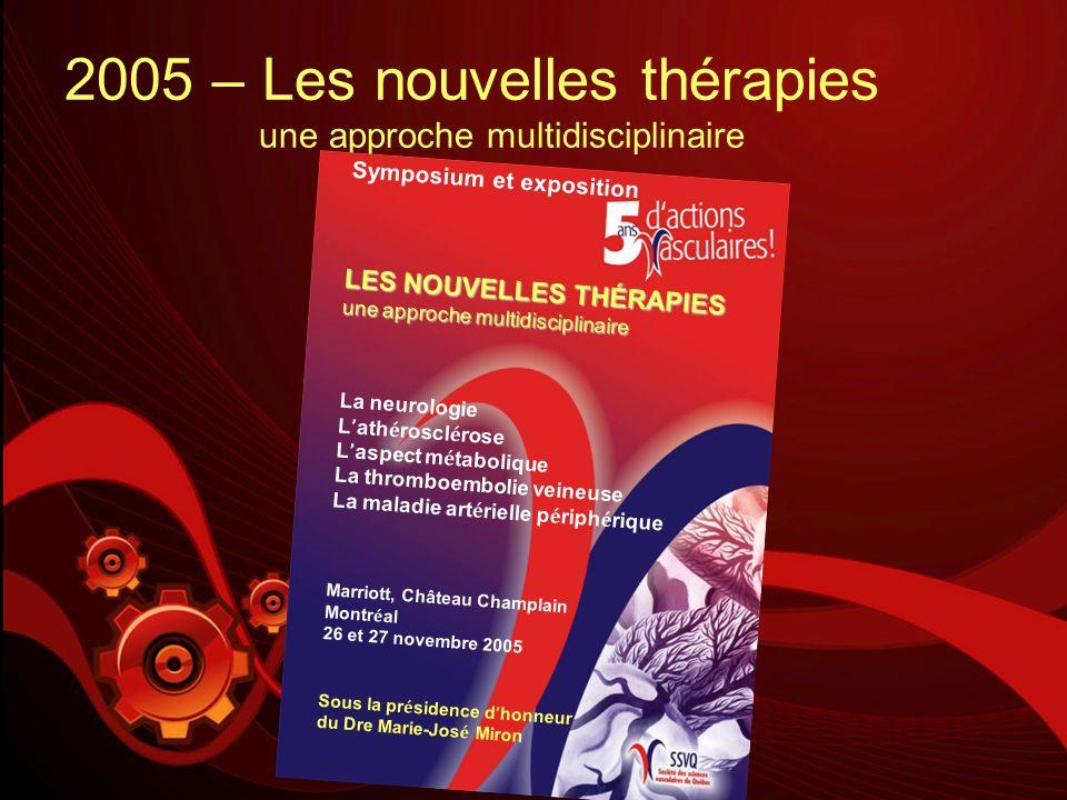 2005 – Les nouvelles thérapies une approche multidisciplinaire