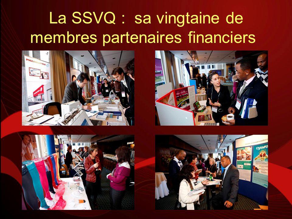 La SSVQ : sa vingtaine de membres partenaires financiers