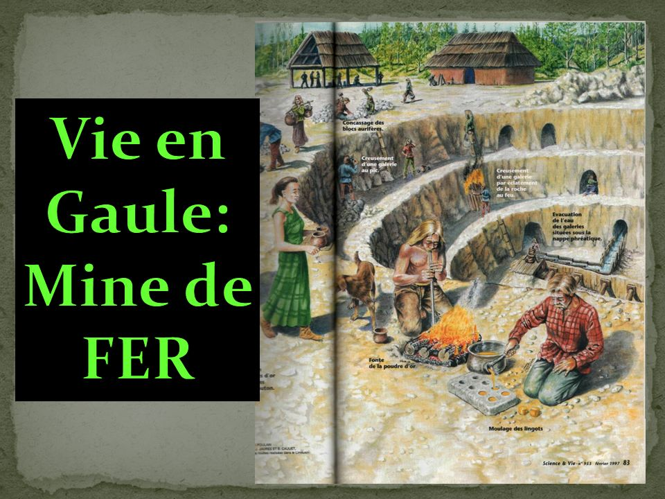 Vie en Gaule: Mine de FER