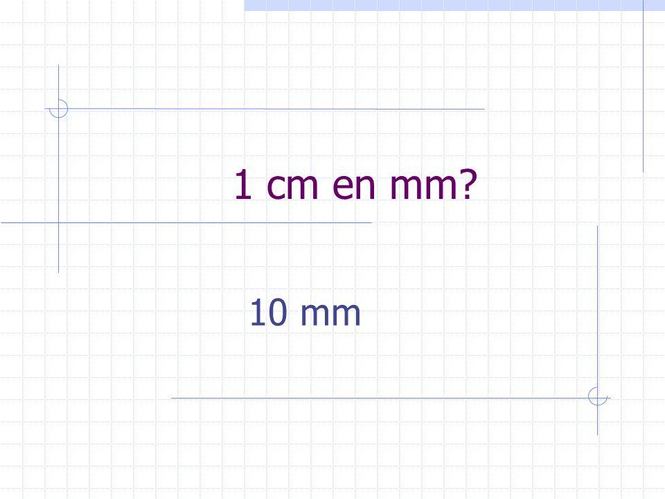 1 cm en mm 10 mm