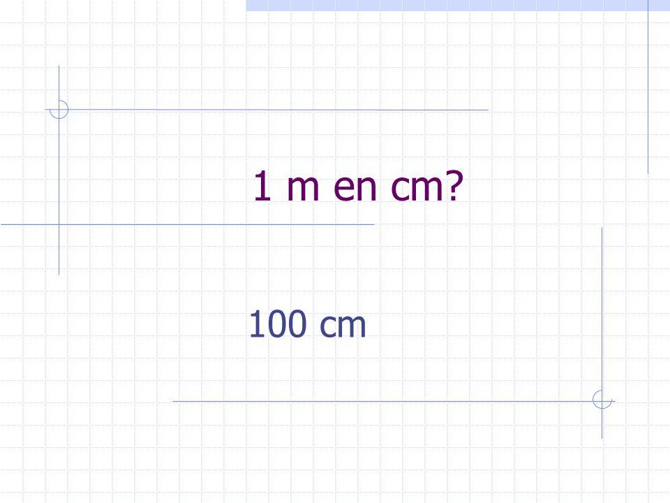 1 m en cm 100 cm