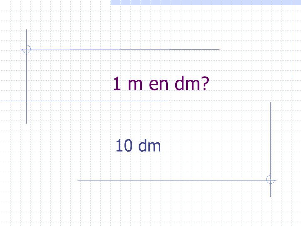 1 m en dm 10 dm