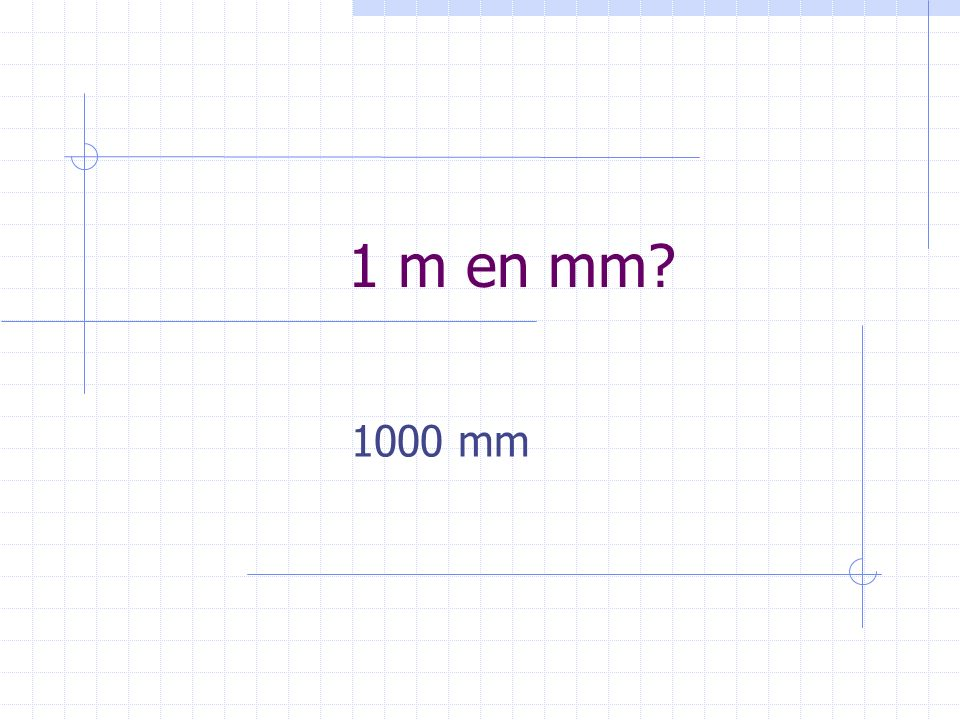 1 m en mm 1000 mm