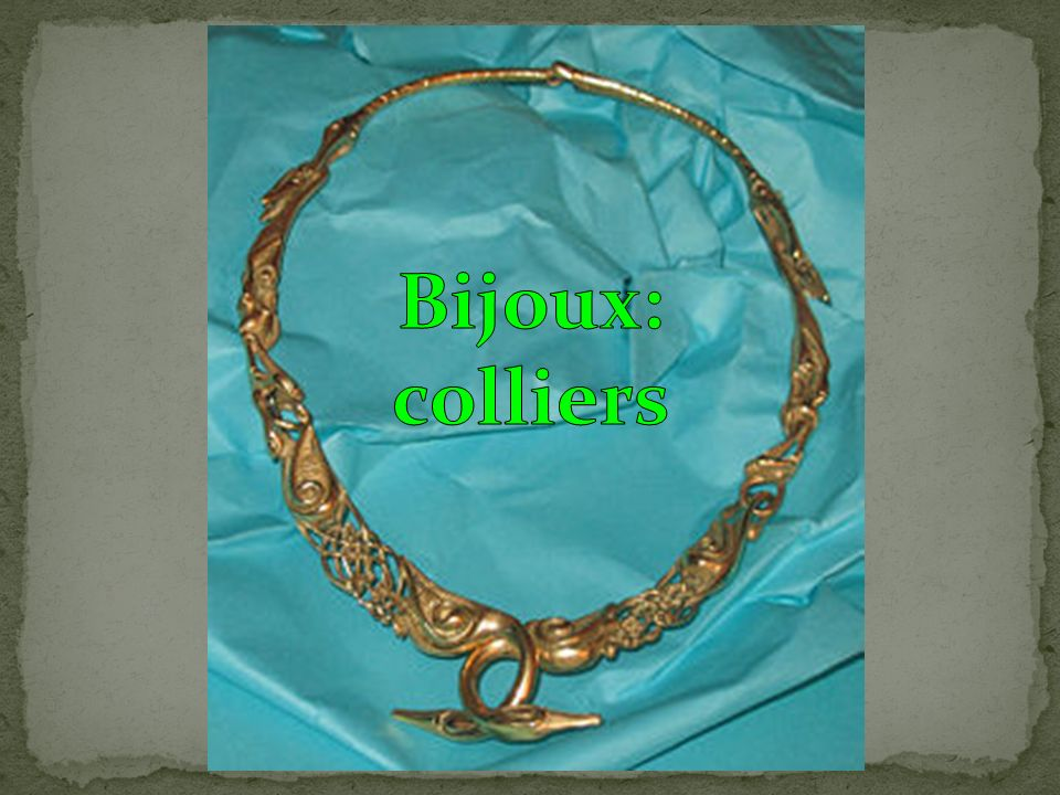 Bijoux: colliers