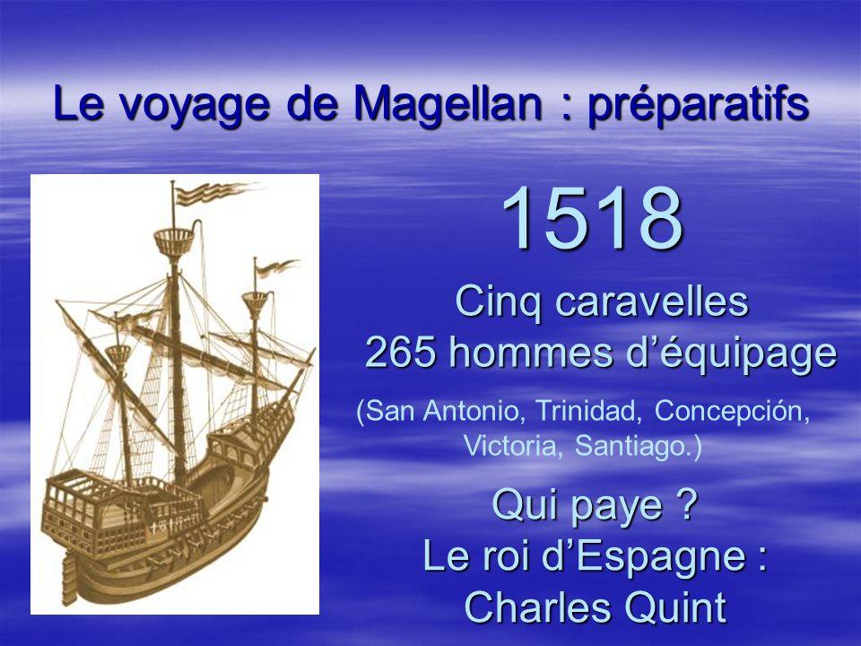 Le voyage de Magellan : préparatifs