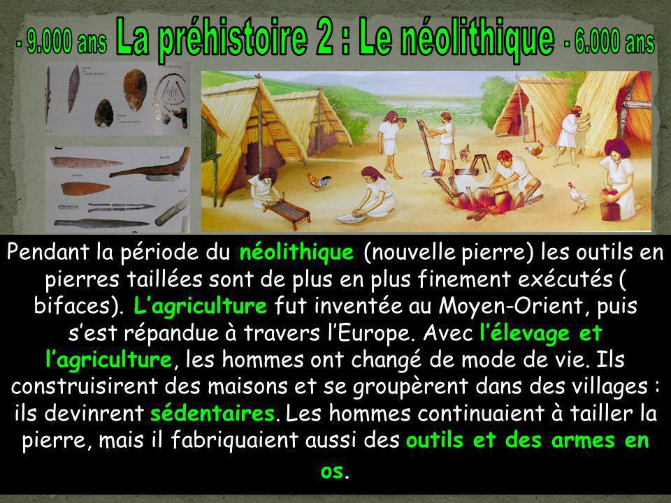 La préhistoire 2 : Le néolithique
