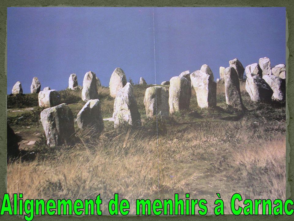 Alignement de menhirs à Carnac