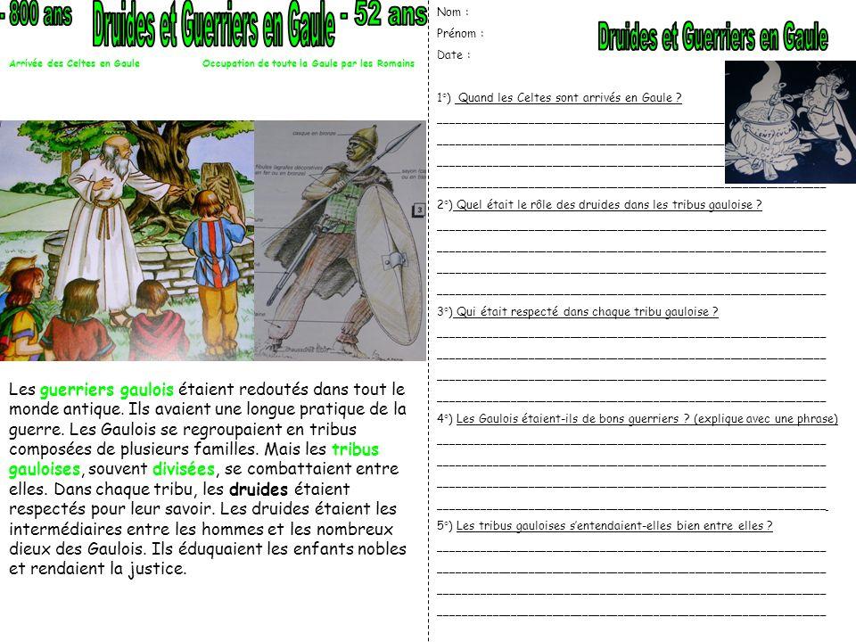 Druides et Guerriers en Gaule - 52 ans Druides et Guerriers en Gaule
