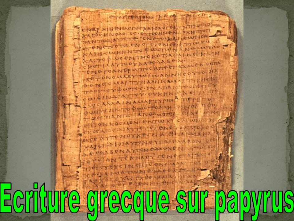 Ecriture grecque sur papyrus