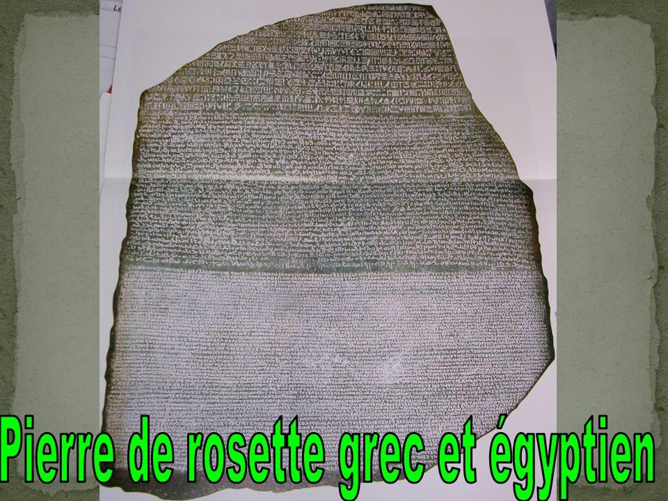 Pierre de rosette grec et égyptien