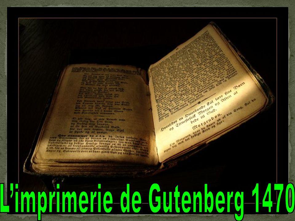 L'imprimerie de Gutenberg 1470