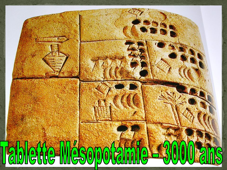 Tablette Mésopotamie – 3000 ans