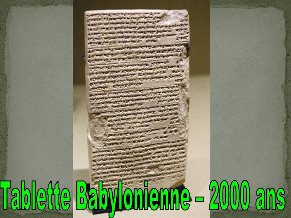Tablette Babylonienne – 2000 ans