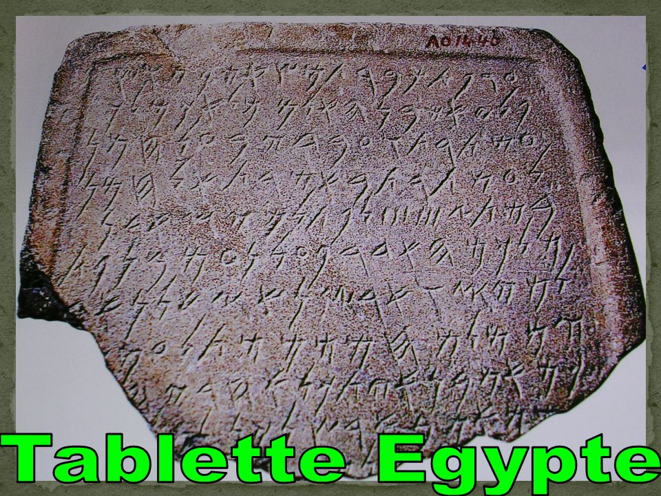 Tablette Egypte
