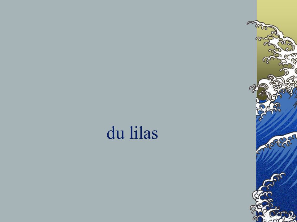du lilas