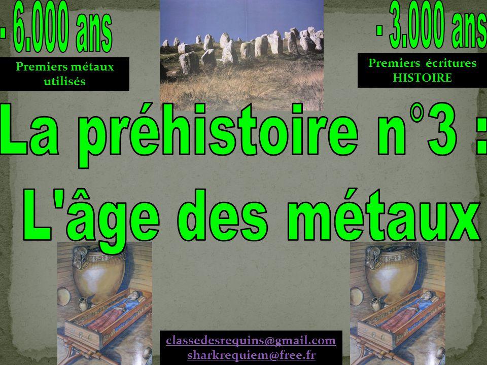 Premiers métaux utilisés