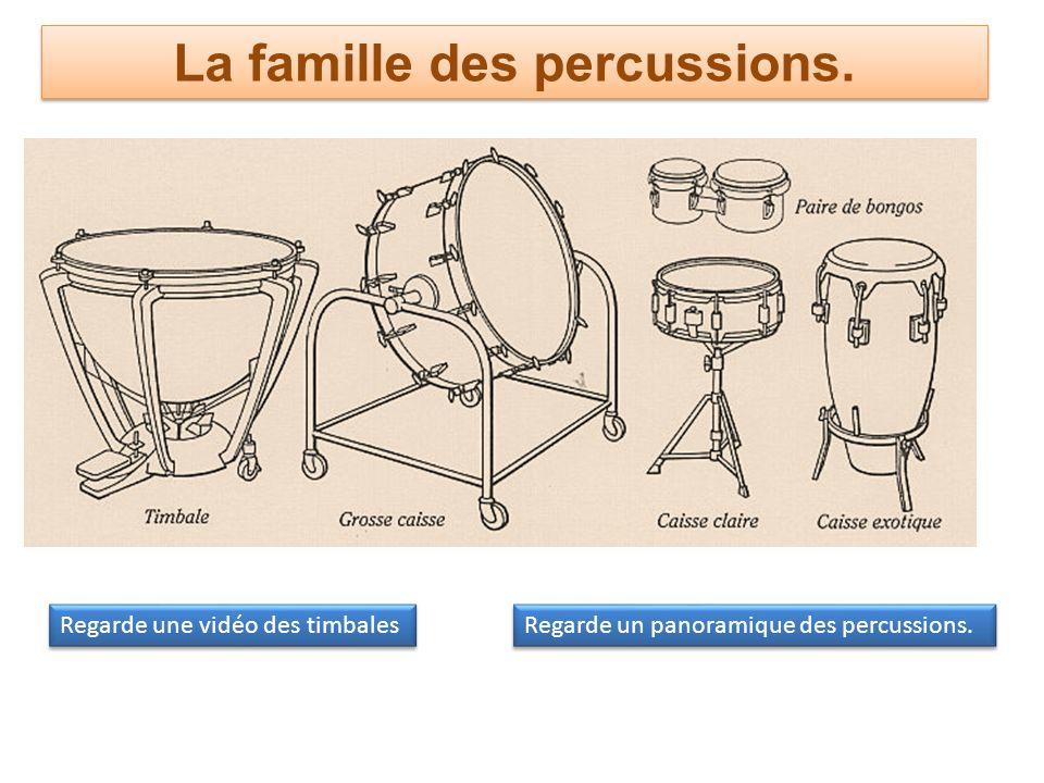 La famille des percussions.