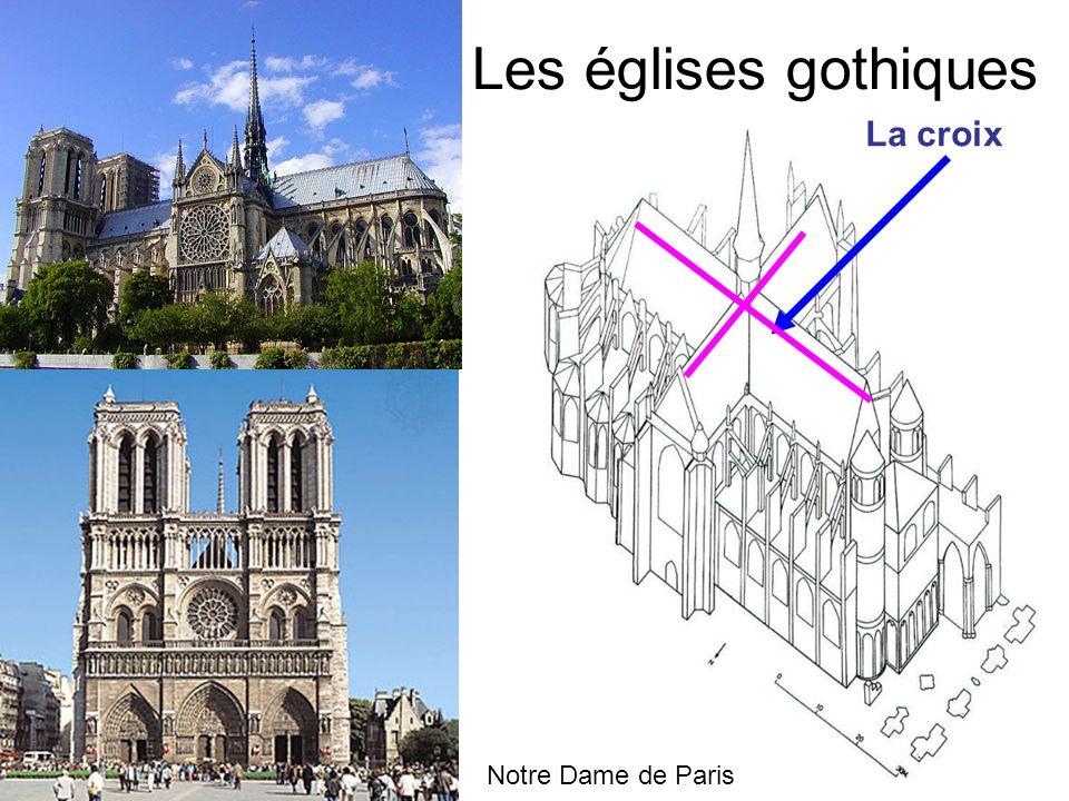 Les églises gothiques La croix Notre Dame de Paris