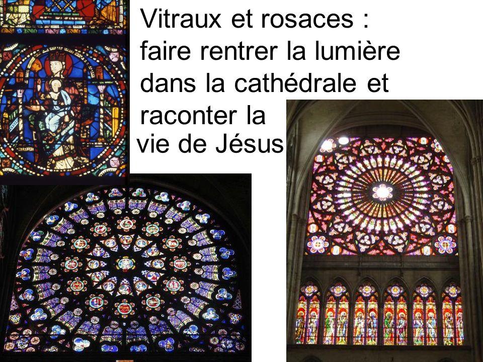Vitraux et rosaces : faire rentrer la lumière dans la cathédrale et raconter la
