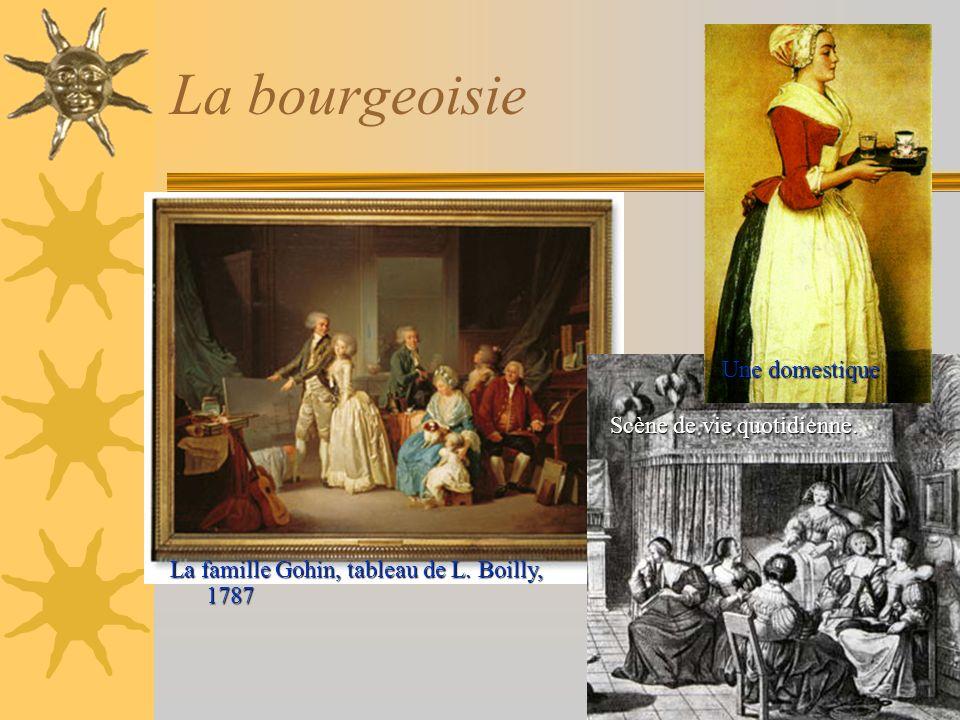 La bourgeoisie Une domestique Scène de vie quotidienne.
