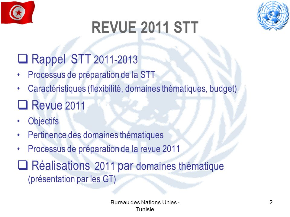 Bureau des Nations Unies - Tunisie