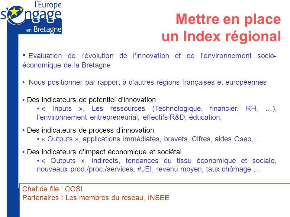 Mettre en place un Index régional