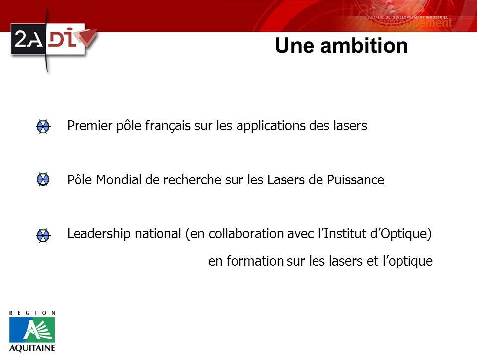 Une ambition Premier pôle français sur les applications des lasers