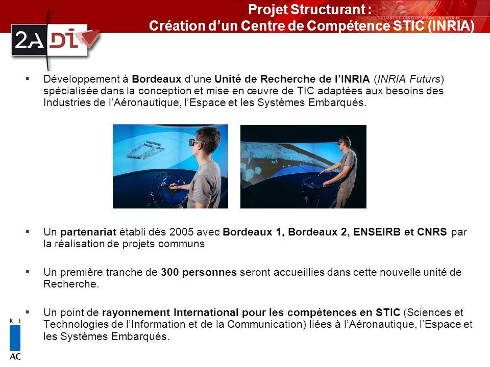 Projet Structurant : Création d'un Centre de Compétence STIC (INRIA)