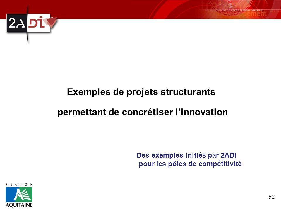 Exemples de projets structurants