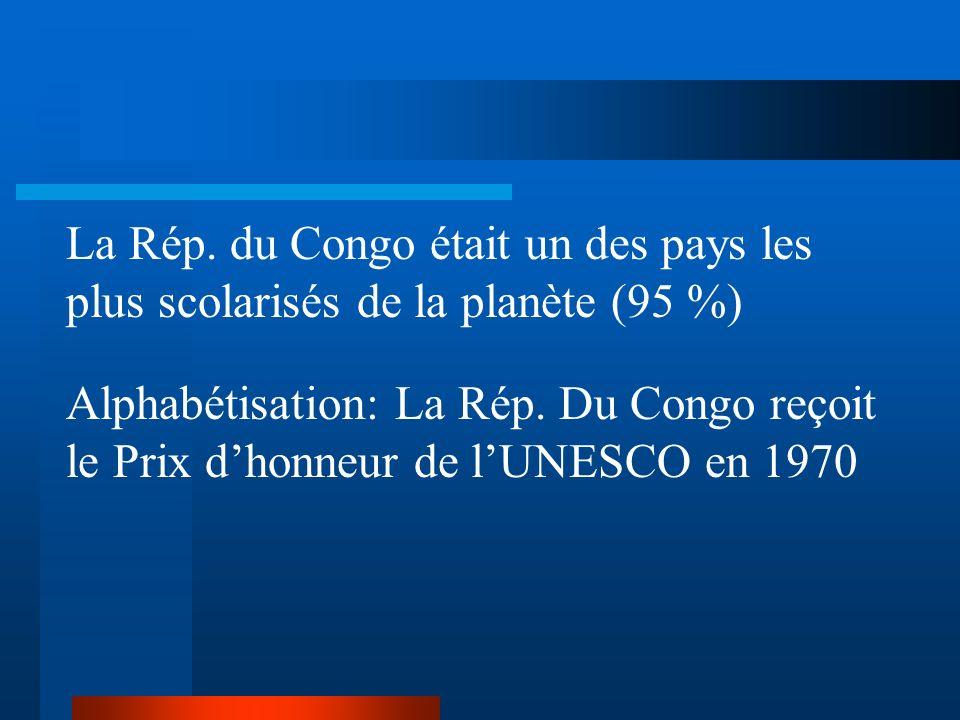 La Rép. du Congo était un des pays les plus scolarisés de la planète (95 %)