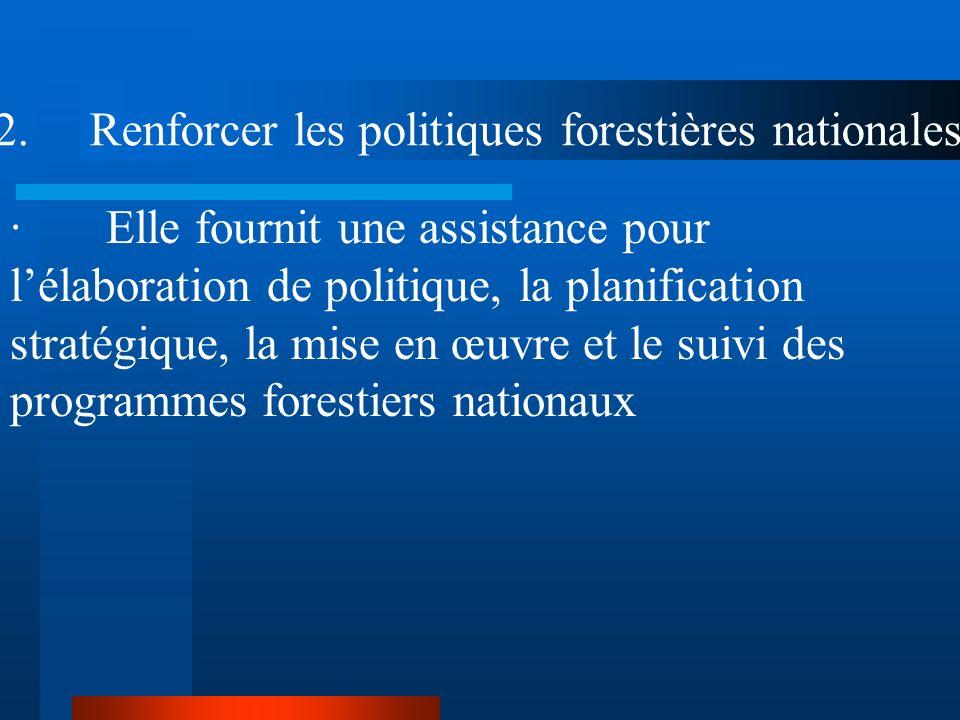 2. Renforcer les politiques forestières nationales
