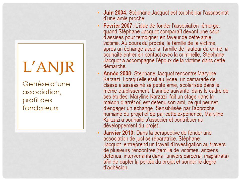 l'anjr Genèse d'une association, profil des fondateurs