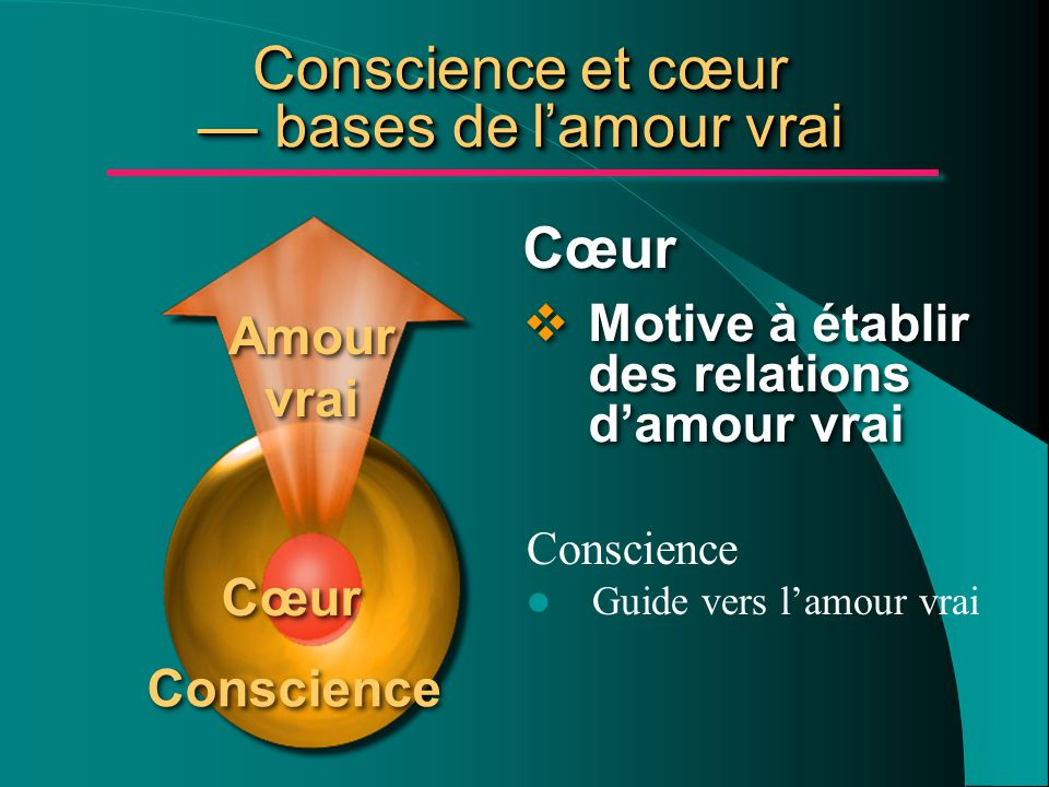 Conscience et cœur — bases de l'amour vrai