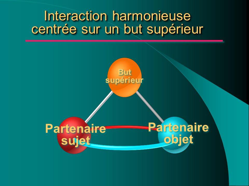 Interaction harmonieuse centrée sur un but supérieur