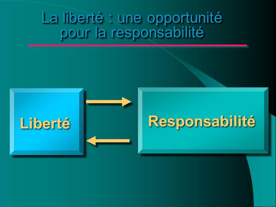 La liberté : une opportunité pour la responsabilité